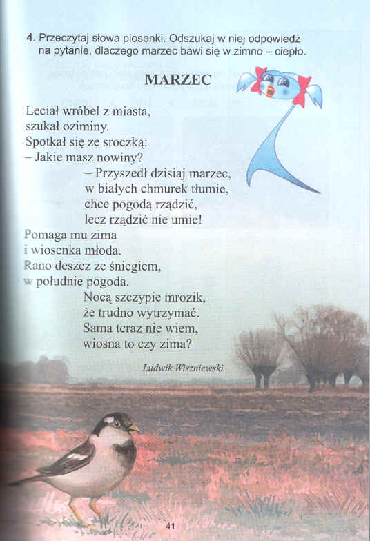 Asy Z Pierwszej Klasy Marzec Wiersz Ludwika Wiszniewskiego