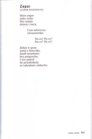 Wiersze Zegar I Przyjaciele Zajączka W Książce Antologia